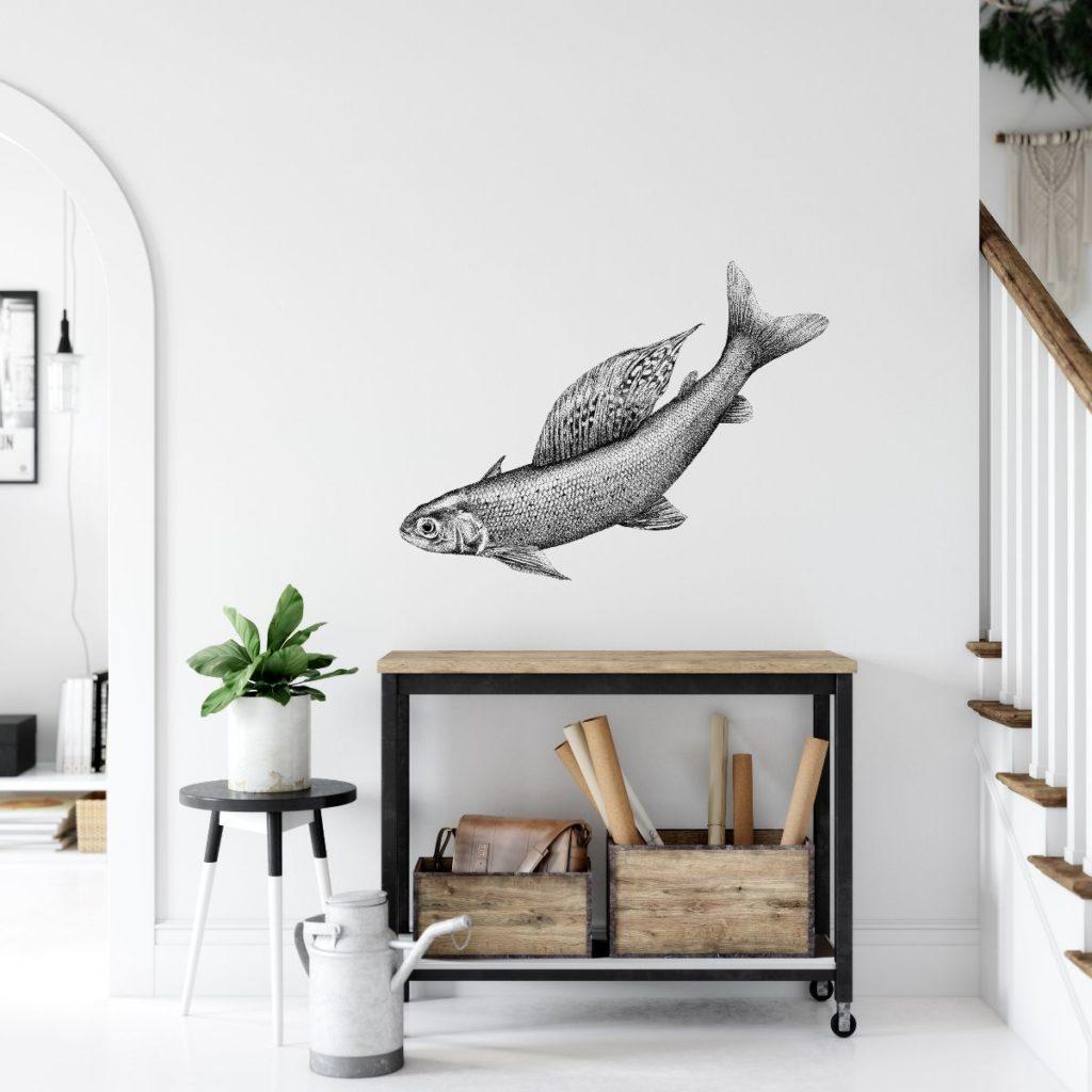 muursticker vis