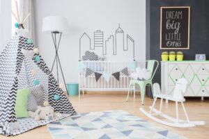 Jongens babykamer inrichten