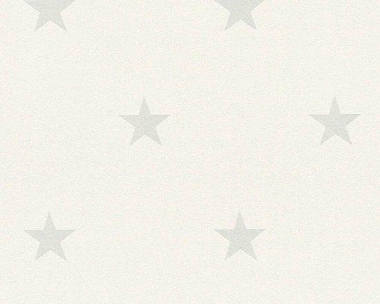 behang met grijze sterren