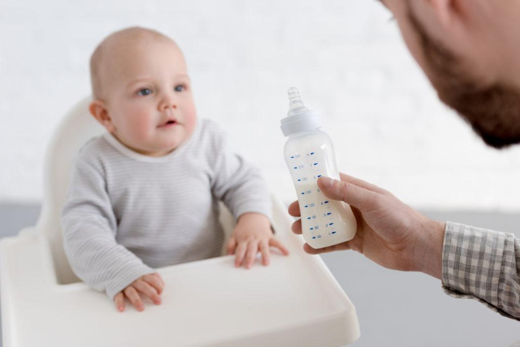Koemelkallergie bij een baby
