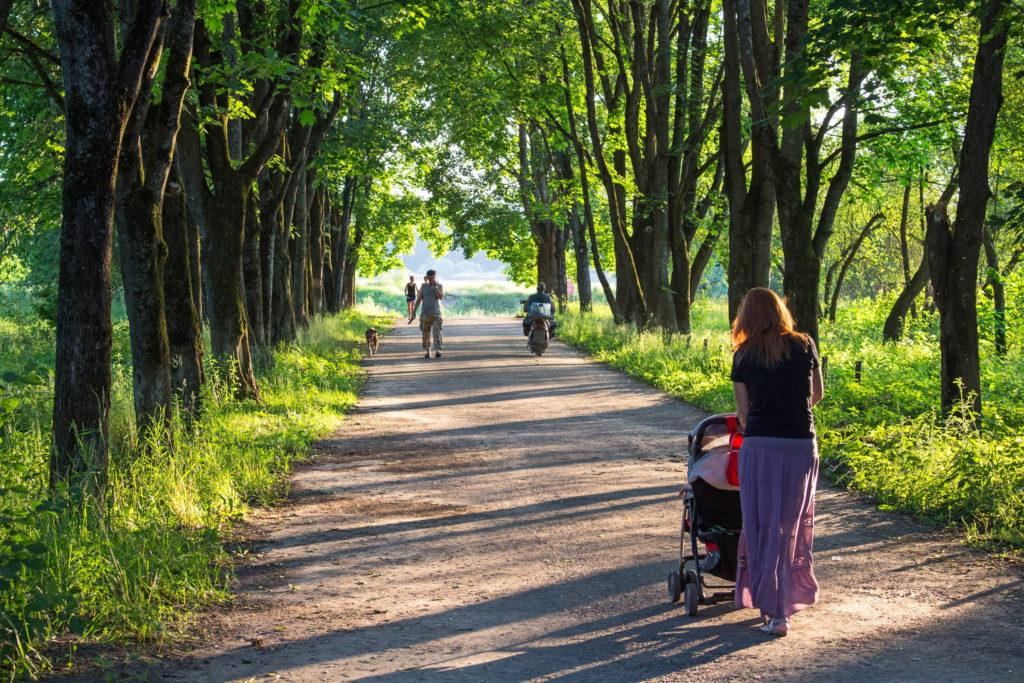 wandelen met kinderwagen